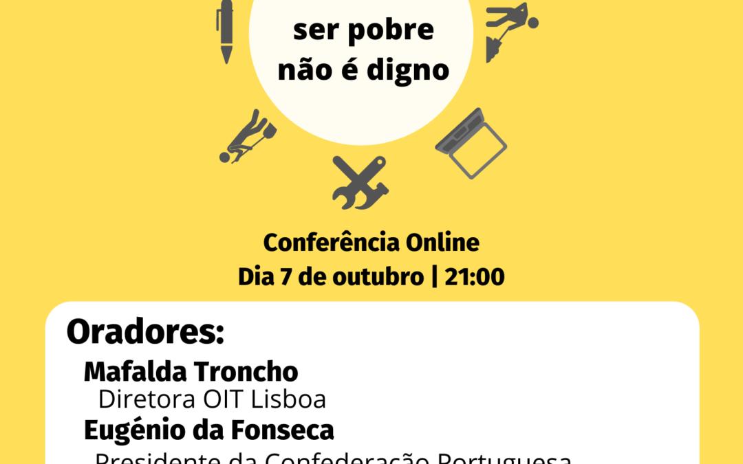 Conferência sobre o Dia Internacional Pelo Trabalho Digno